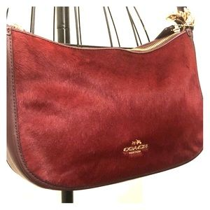 Chelsea Haircalf Leather Crossbody Shoulder Bag